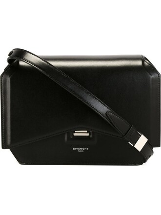 bow bag shoulder bag black