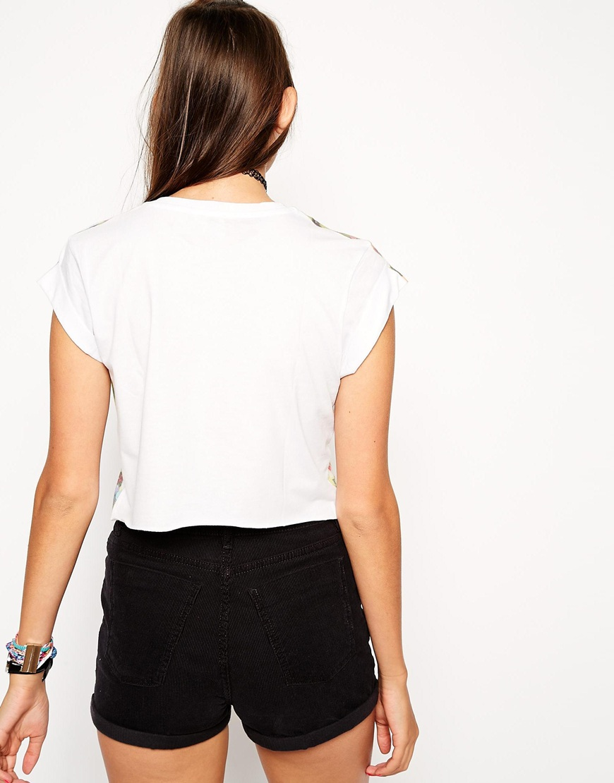 ASOS Crop T-Shirt with Jelly Belly Print at asos.com
