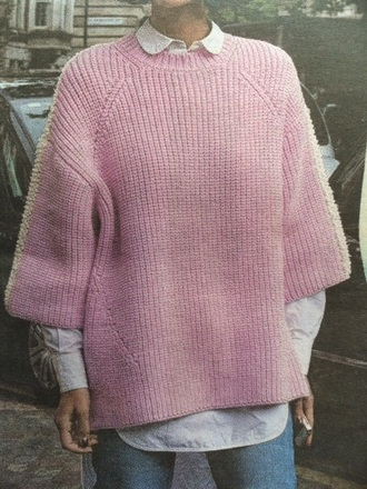 sweater pink knitted
