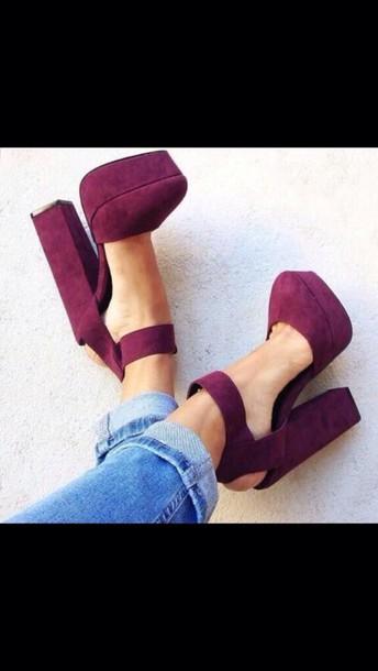 shoes heels block heels style