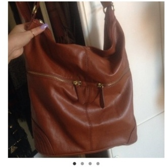 bag brown zip big h&m