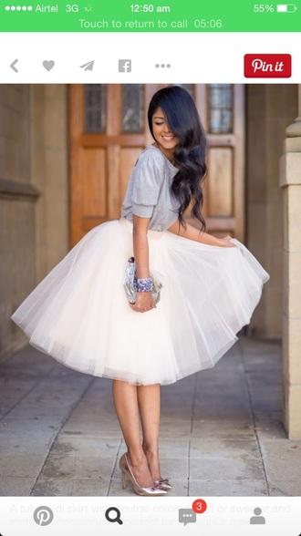 skirt peach