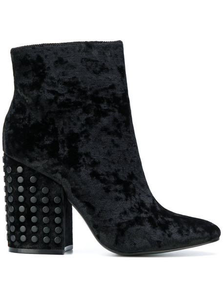KENDALL+KYLIE women ankle boots black velvet shoes