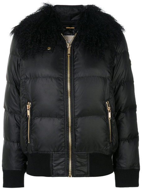 jacket fur collar jacket fur women black