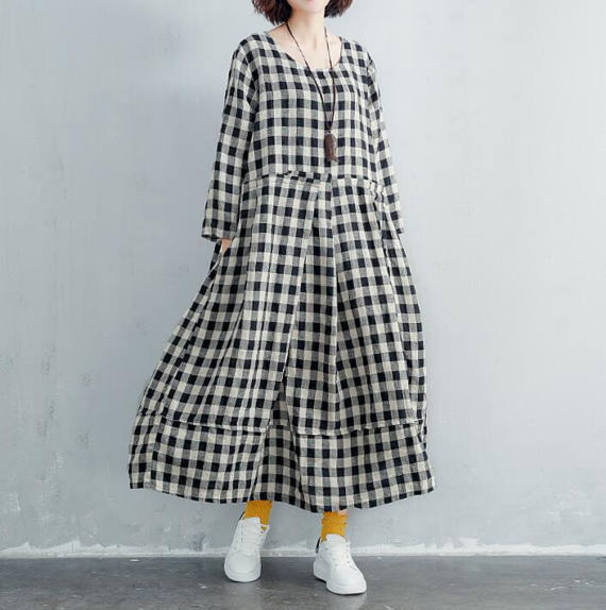 dress long lattice dress