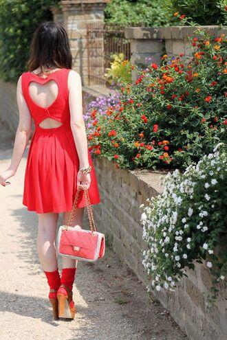 dress heart cut out heart dress blogger women fashion women dress dress for women