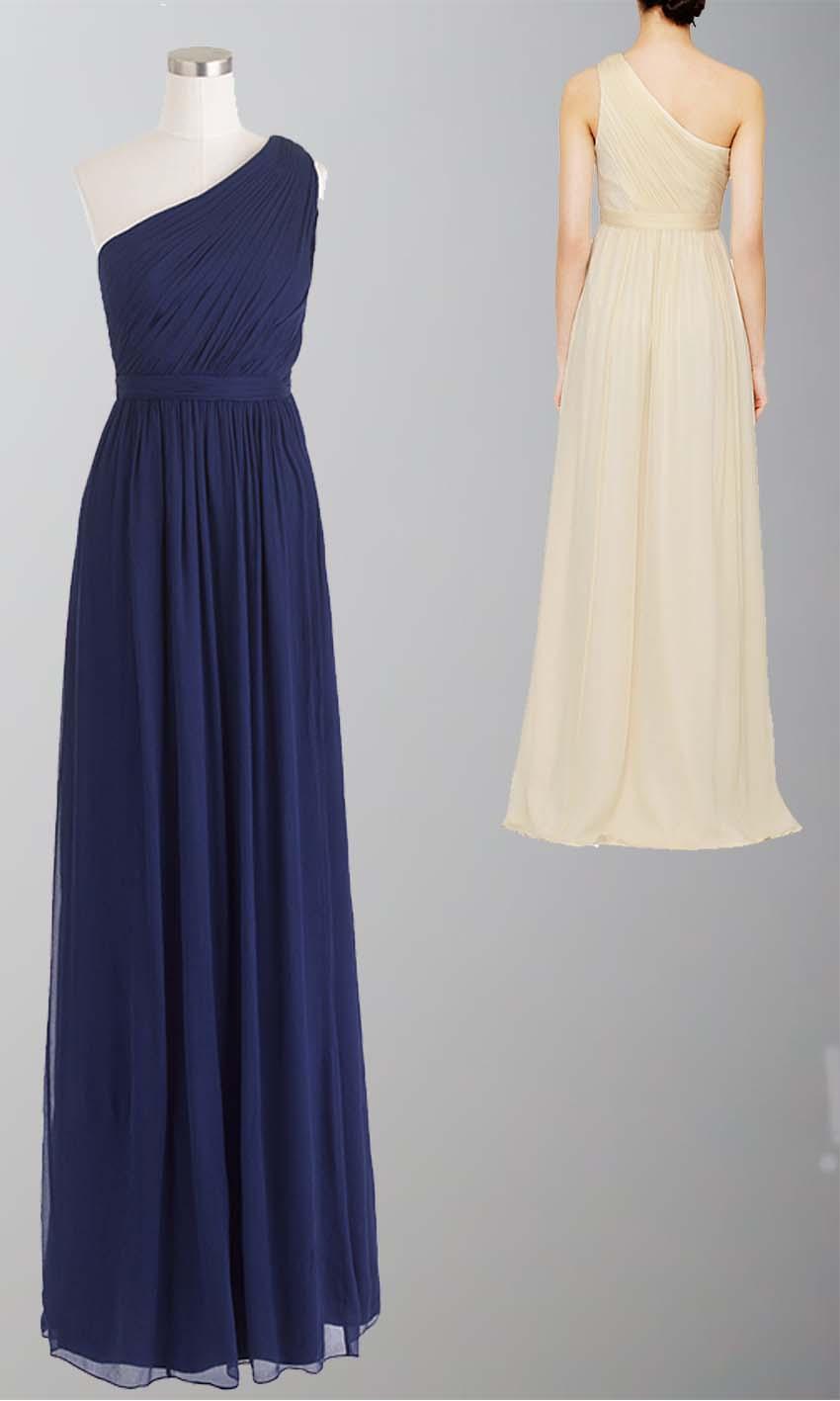 Navy Blue One Shoulder Bridesmaid Dress UK KSP335 [KSP335] - £92.00 ...