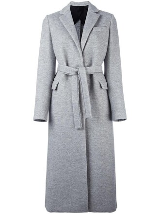 coat women cotton wool grey