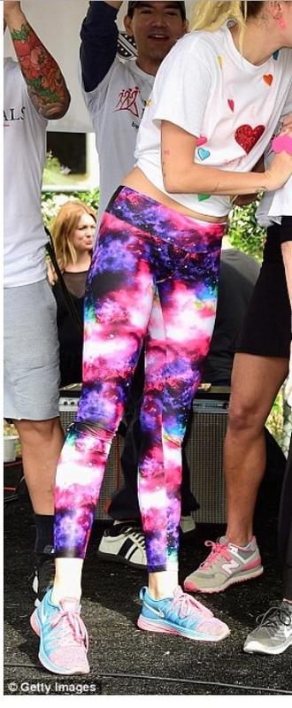 pants nike nike running shoes galaxy print galaxy leggings leggings workout leggings