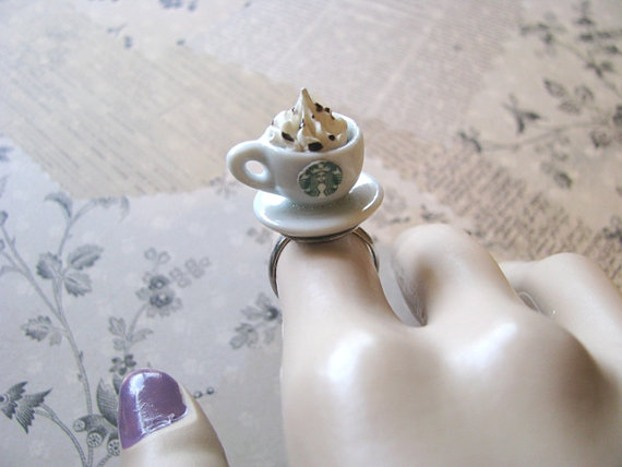 Starbucks Cup Ring by bluesparrowtrinkets on Etsy