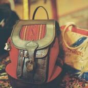bag,vintage,backpack,leather backpack,small backpack,fashion small backpack,festival,festival backpack,red backpack,london,beara beara,worldwide shipping