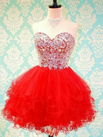 dress ball gown sweetheart organza short mini prom dress