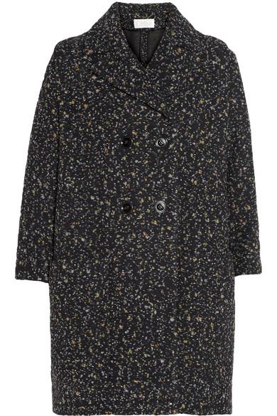 Tweed cocoon coat