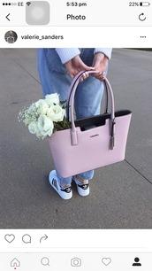 bag,pink,calvin klein,handbag,designer bag,blush pink,pastel pink,calvin klein bag,tote bag,pink bag