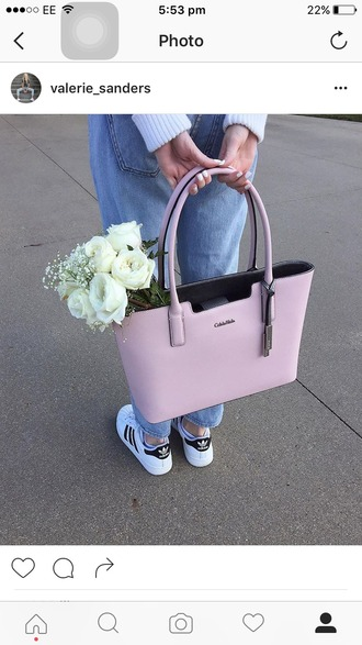 bag pink calvin klein handbag designer bag blush pink pastel pink calvin klein bag tote bag pink bag
