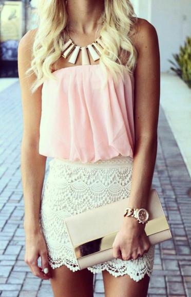 bag jewels clutch necklace purse top blouse