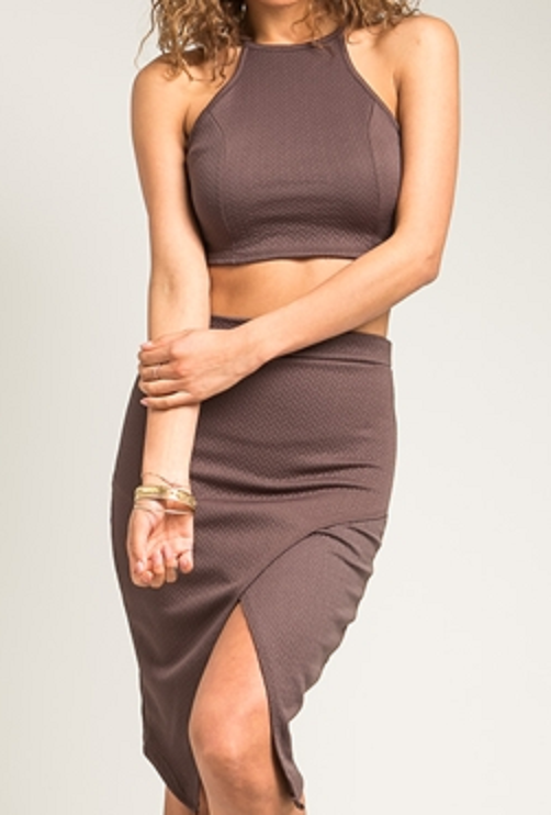 Halter top and pencil skirt set