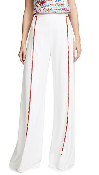 Galvan London white red pants