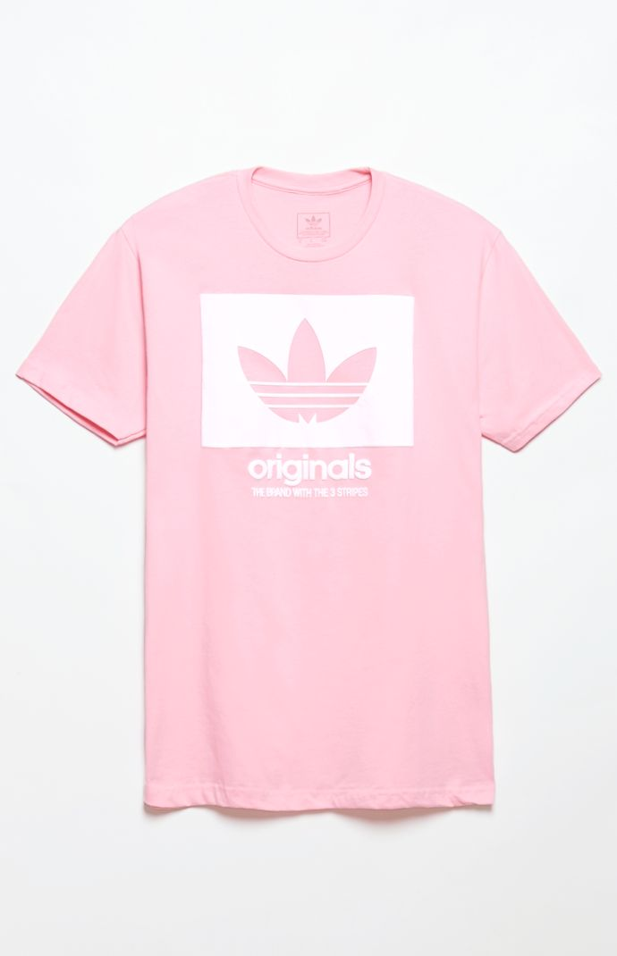 adidas Logo Knockout Outline Pink T-Shirt at PacSun.com