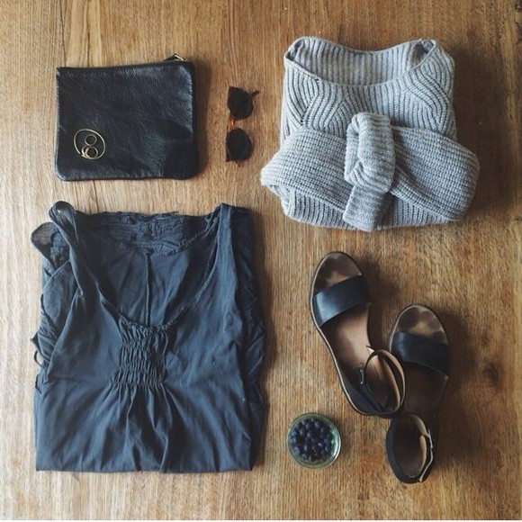 grey sweater gray dress