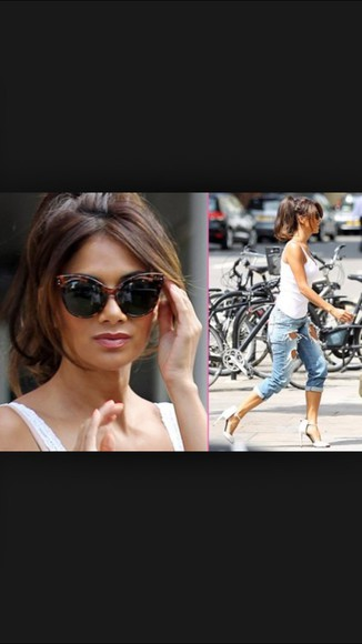 shoes sunglasses top style jeans