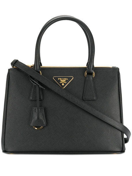 Prada - Small Galleria tote bag - women - Leather - One Size, Black, Leather
