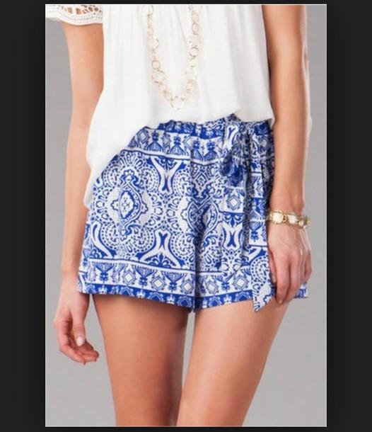shorts printed shorts