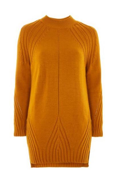 Topshop dress knitted dress mustard