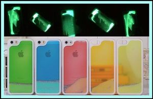 Case / funda con arena liquida luminosa que brilla en la oscuridad! iphone 4 / 5
