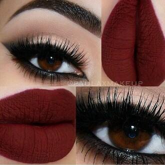 make-up red lipstick