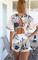 2015 nouvelles femmes de la mode marque robe manches courtes taille haute imprimé feuilles robe femmes de taille plus occasionnels robe d'été blanche dans robes de vêtements & accessoires sur aliexpress.com