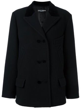 blazer double breasted women cotton black wool jacket