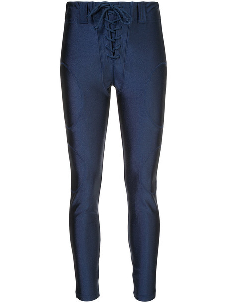 yeezy pants women spandex football blue