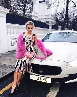 dress tallia storm floral dress dolce and gabbana midi dress blend dress instagram jacket hafnium pink jacket