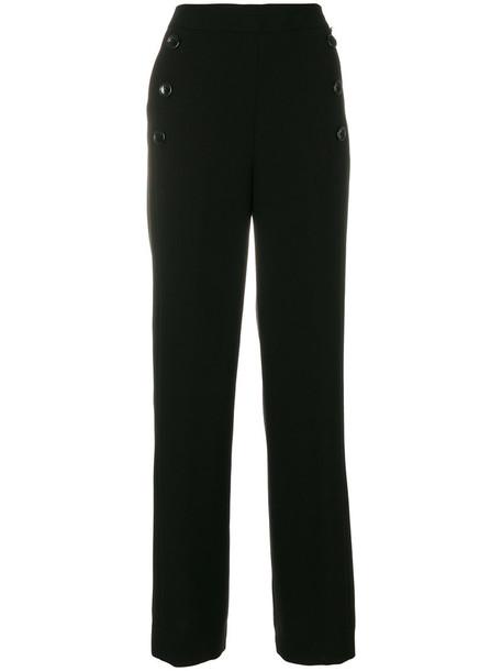 high waisted sailor high women black pants