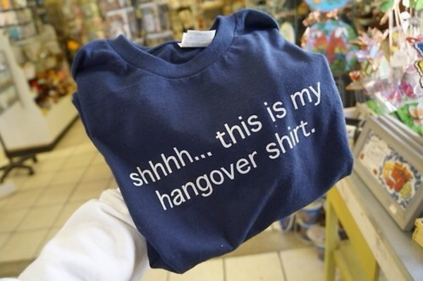 shirt blue shirt white hangover t-shirt