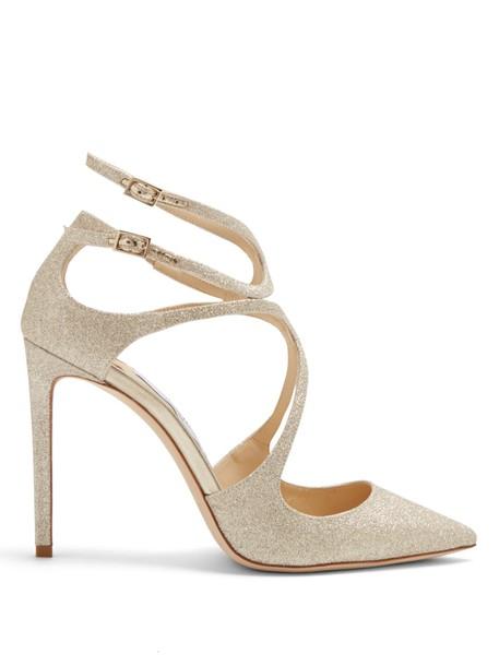 Jimmy Choo glitter pumps gold shoes
