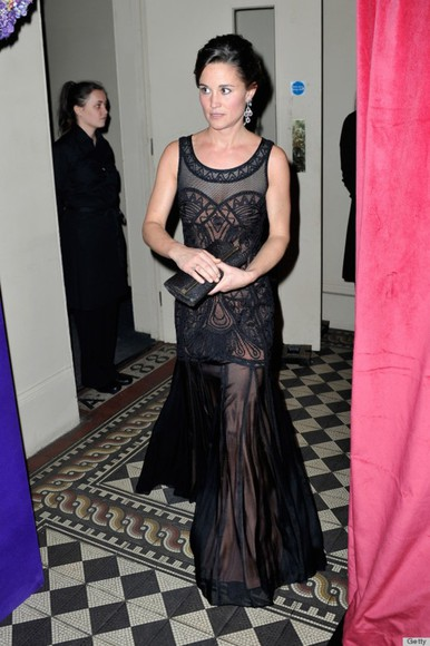 pippa middleton dress black dresses lace prom dress