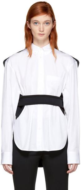 Balenciaga shirt car white black neoprene top