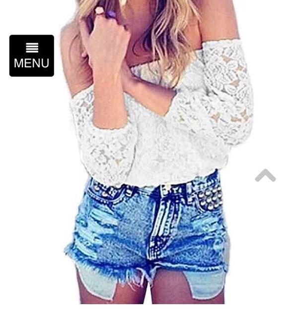 blouse white shirt lace