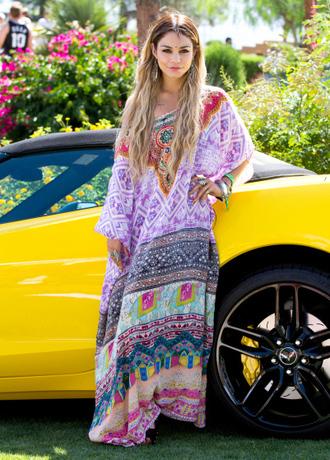 dress colourful hippie boho festival summer coachella boho dress bohemian aztec vanessa hudgens