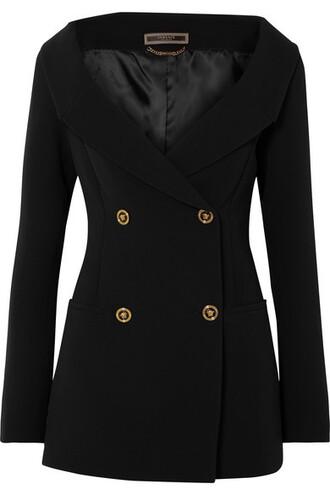 blazer black silk jacket