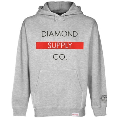 Diamond Supply Co. Bar Pullover Hoodie - Ash