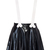ROMWE | Bone Shaped Suspender Faux Leather Skirt, The Latest Street Fashion