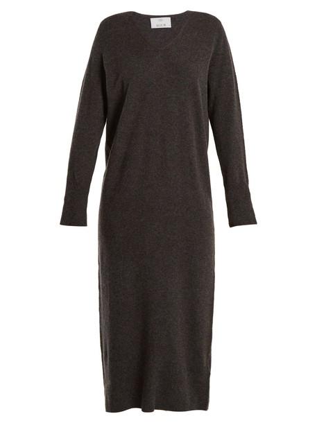 Allude dress wool knit grey