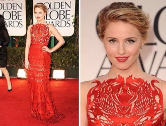 dress red dress dianna agron