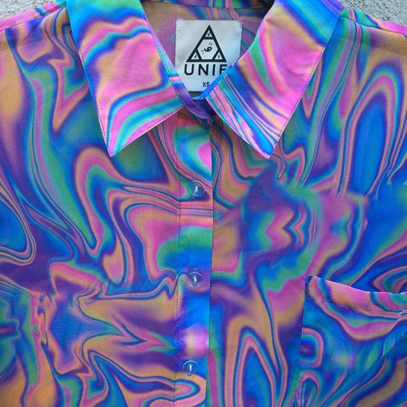 t-shirt unif colorful shirt collared shirts trippy