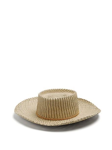 Sensi Studio tassel embellished hat straw hat beige