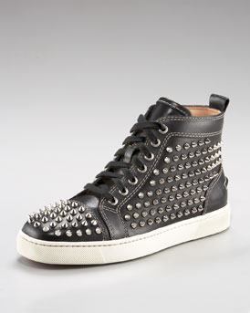 Christian Louboutin Spiked High-Top Sneaker - Neiman Marcus