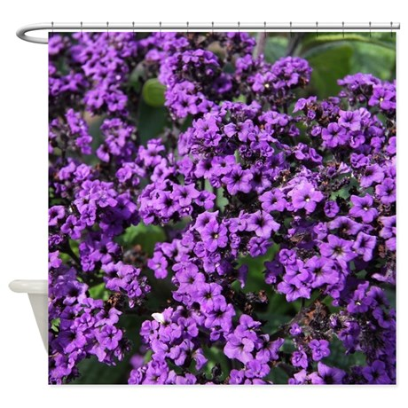 Purple Flowers Shower Curtain on CafePress.com